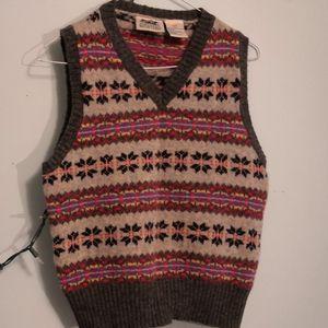Vintage wool festive vest